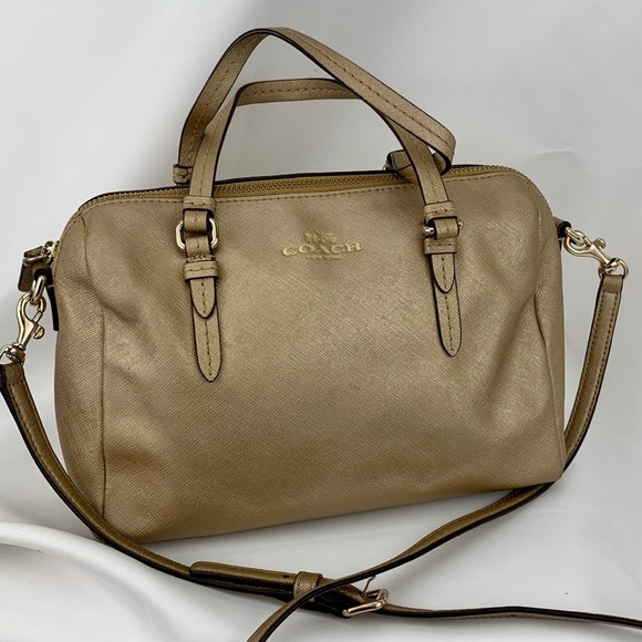Coach Handbags - COACH Authentic Bowler shoulder handbag gold